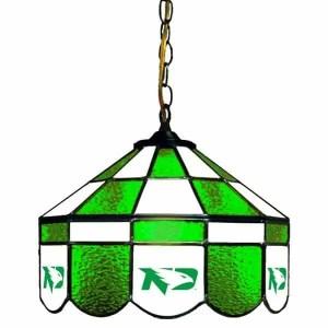 North Dakota Fighting Hawks Stained Glass Swag Hanging Lamp | moneymachines.com