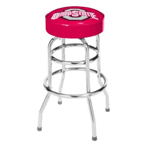Ohio State Buckeyes College Logo Double Rung Bar Stool | moneymachines.com