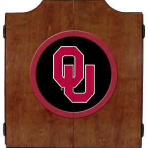 Oklahoma Sooners College Logo Dart Cabinet | moneymachines.com