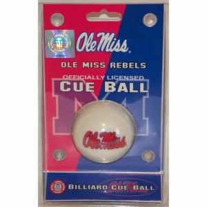 Ole Miss Rebels Billiard Cue Ball | moneymachines.com