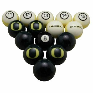 Oregon Ducks Billiard Ball Set | moneymachines.com