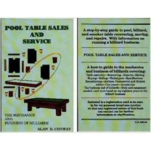 Pool Table Sales & Service Book | moneymachines.com