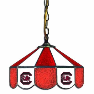 South Carolina Gamecocks Stained Glass Swag Hanging Lamp | moneymachines.com
