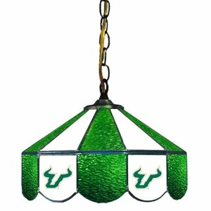 South Florida Bulls Stained Glass Swag Hanging Lamp | moneymachines.com