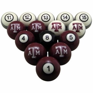 Texas A&M Aggies Billiard Ball Set | moneymachines.com