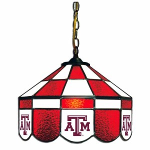 Texas A&M Aggies Stained Glass Swag Hanging Lamp | moneymachines.com