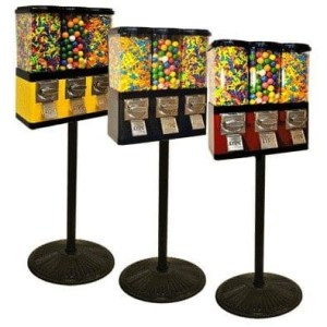 Triple Pod Candy Gumball Vending Machine Colors | moneymachines.com