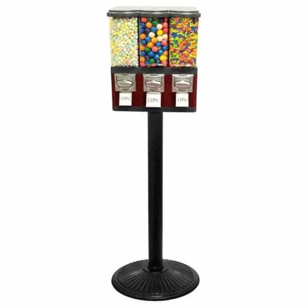 Triple Pod Candy - Gumball Vending Machine   moneymachines.com