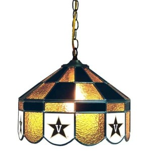 Vanderbilt Commodores Stained Glass Swag Hanging Lamp   moneymachines.com