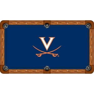Virginia Cavaliers Billiard Table Cloth   moneymachines.com