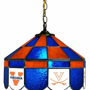 Virginia Cavaliers Stained Glass Swag Hanging Lamp | moneymachines.com