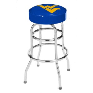 West Virginia Mountaineers College Logo Double Rung Bar Stool | moneymachines.com