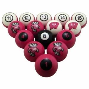 Wisconsin Badgers Billiard Ball Set | moneymachines.com