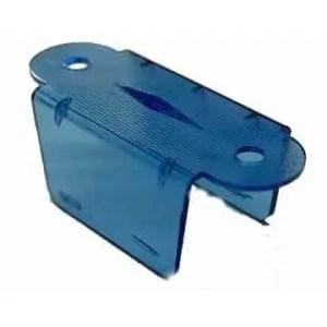 "1 1/2"" Transparent Blue Double Pinball Lane Apron | moneymachines.com"