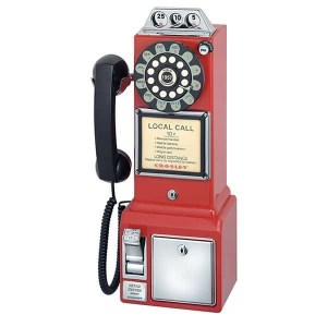 1950's Classic Pay Phone - Red - CR56-RE | moneymachines.com