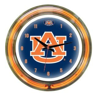 Auburn Tigers Neon Wall Clock | Moneymachines.com