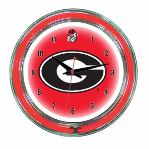Georgia Neon Wall Clock | moneymachines.com