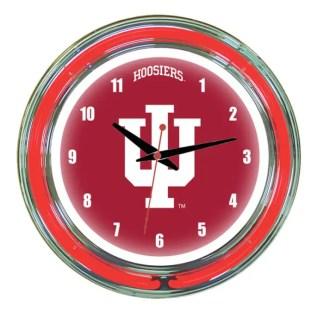 Indiana Hoosiers Neon Wall Clock | Moneymachines.com