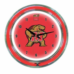 Maryland Neon Wall Clock | moneymachines.com