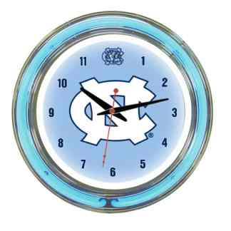 North Carolina Tar Heels Neon Wall Clock | Moneymachines.com