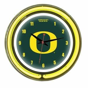 Oregon Neon Wall Clock | moneymachines.com