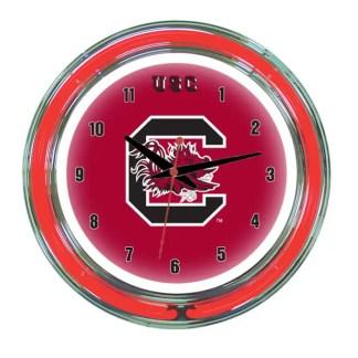 South Carolina Neon Wall Clock | Moneymachines.com