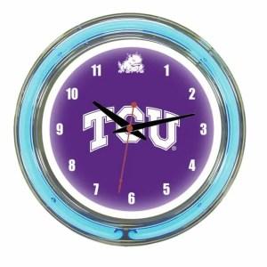 TCU Neon Wall Clock | moneymachines.com