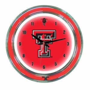Texas Tech Neon Wall Clock | moneymachines.com