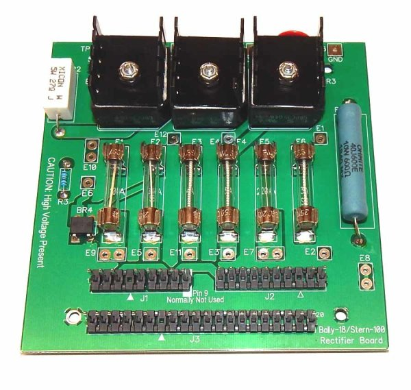 Bally / Stern Pinball Rectifier Power Supply Board & Deluxe Connector Kit | moneymachines.com