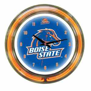 Boise State Broncos Neon Wall Clock | Moneymachines.com