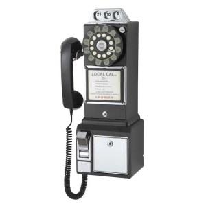 1950's Classic Pay Phone | CR56-BK | moneymachines.com