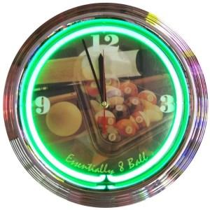 Essentially 8 Ball Neon Wall Clock | moneymachines.com