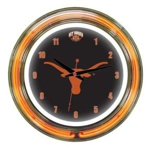 Texas Longhorns Neon Wall Clock | Moneymachines.com