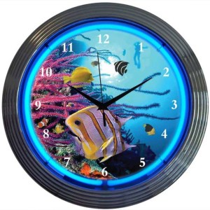 AQUARIUM NEON CLOCK – 8AQUAX | moneymachines.com