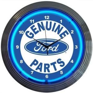 AUTO – FORD PARTS NEON CLOCK – 8FRDGP   moneymachines.com