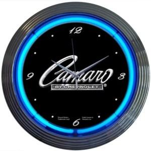 AUTO – GM – CAMARO NEON CLOCK – 8CAMAR   moneymachines.com