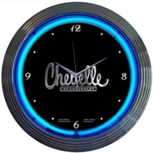 AUTO – GM – CHEVELLE NEON CLOCK – 8CHEVEL   moneymachines.com