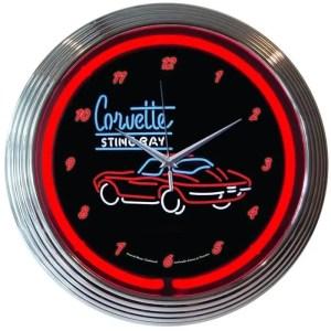 AUTO – GM – CORVETTE C2 NEON CLOCK – 8CORV2 | moneymachines.com