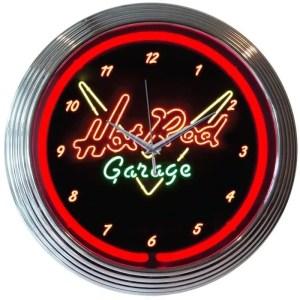 AUTO – XTRA – HOT ROD GARAGE NEON CLOCK – 8HOTRD | moneymachines.com