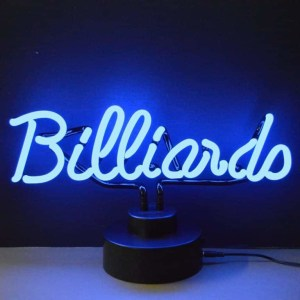 BILLIARDS NEON SCULPTURE – 4BLRDS | moneymachines.com