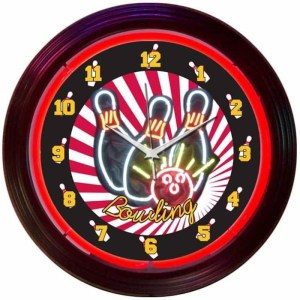 BOWLING NEON CLOCK – 8BOWLX | moneymachines.com