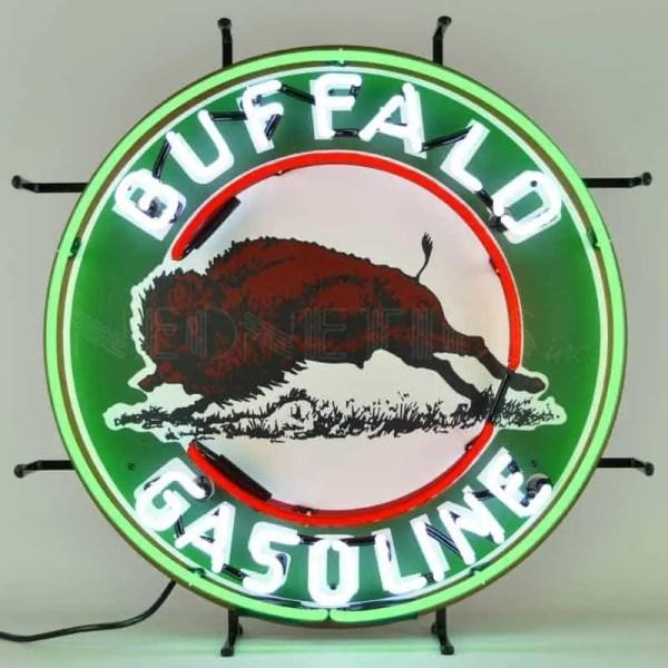 BUFFALO GASOLINE NEON SIGN – 5GSBUF | moneymachines.com