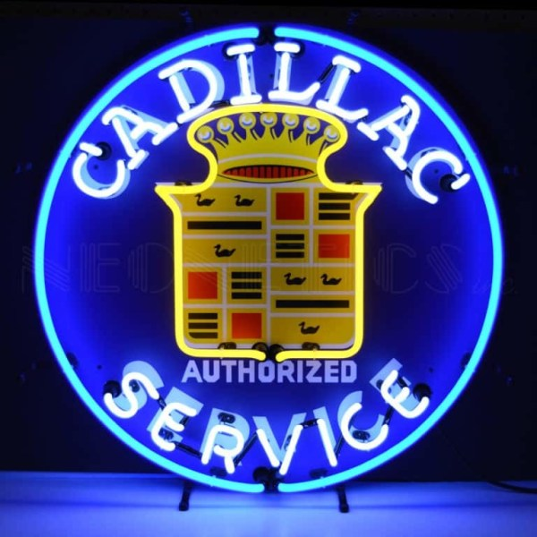 CADILLAC SERVICE NEON SIGN – 5CADSR | moneymachines.com