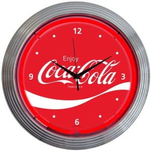 COCA-COLA WAVE NEON CLOCK – 8CCWAV | moneymachines.com