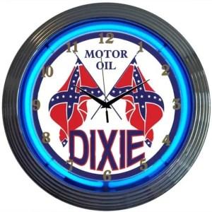 DIXIE MOTOR OIL NEON CLOCK – 8DIXIE | moneymachines.com