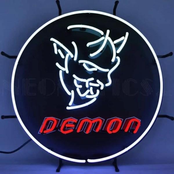 DODGE DEMON NEON SIGN – 5DEMON | moneymachines.com