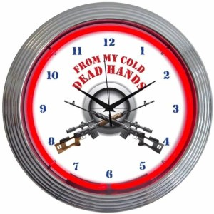 FROM MY COLD DEAD HANDS NEON CLOCK – 8GUNFR | moneymachines.com