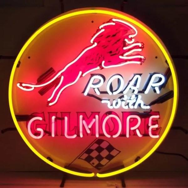 GILMORE GASOLINE NEON SIGN – 5GSGIL | moneymachines.com