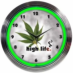 HIGH LIFE NEON CLOCK – 8HIGHL | moneymachines.com