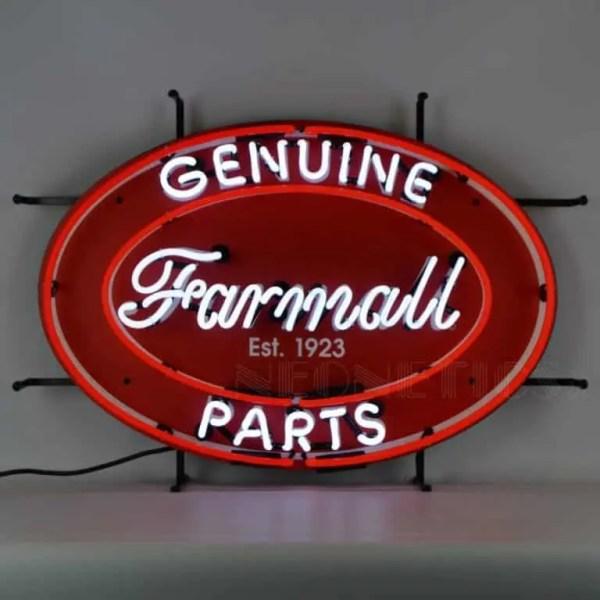 IH FARMALL GENUINE PARTS OVAL NEON SIGN – 5CASEO | moneymachines.com
